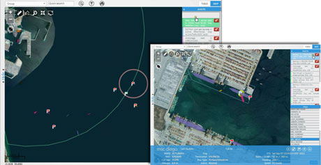 Figure 2: Event display to operators in the Posidonia Operations port system.