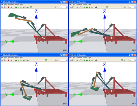 Figure 2: Co-simulation of the Verhaert Excavator model