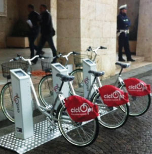 Figure 1: public bike-sharing system (CicloPi) in Pisa